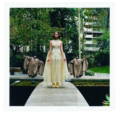 LOEWE WOMEN'S SPRING SUMMER 2020, publication featuring KAIA GERBER shot at MAISON DE L'UNESCO Photography FUMIKO IMANO Styling BENJAMIN BRUNO - © Villa Noailles Hyères