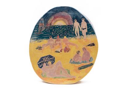 Krzysztof Strzelecki, Summer Beach,  céramique, 42x38x10,5 cm, 2020 - © Villa Noailles Hyères