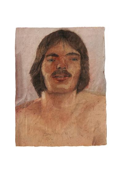 Pierre Dumaire, Bob Mizer 1 aquarelle sur papier thaïlandais 25x34 cm, 2020 - © Villa Noailles Hyères