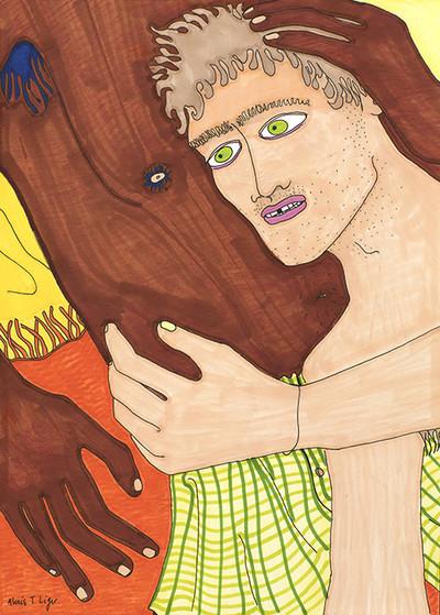 Alexis Liger, Raymond,  feutre et crayon de couleur, 21x29,7 cm, 2020 - © Villa Noailles Hyères
