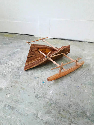 Sara Favriau, sculpture et pirogue - © Villa Noailles Hyères