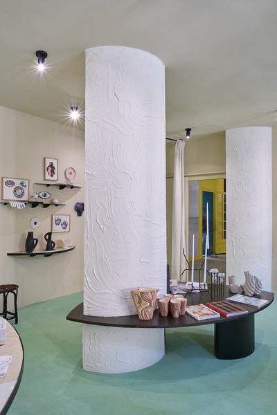 Boutique, scénographie de Maximilien Pellet et Zoé Piter - © Villa Noailles Hyères